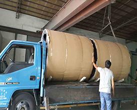 大型洗衣片機械輥筒鐵氟龍噴塗