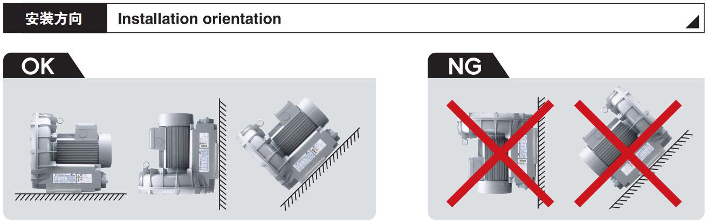 旋涡气泵正确的安装方式