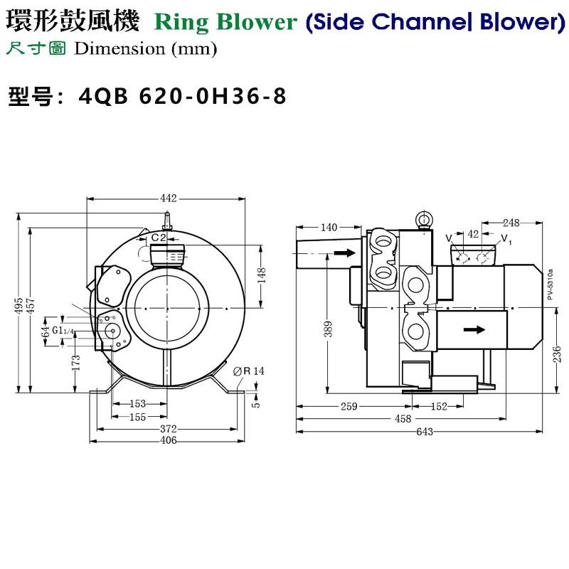 4QB 620-0H36-8外形尺寸