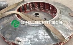 耐磨陶瓷风机叶轮:粘贴耐磨陶瓷衬片可提高风机叶轮使用寿命