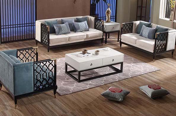 别墅新中式沙发