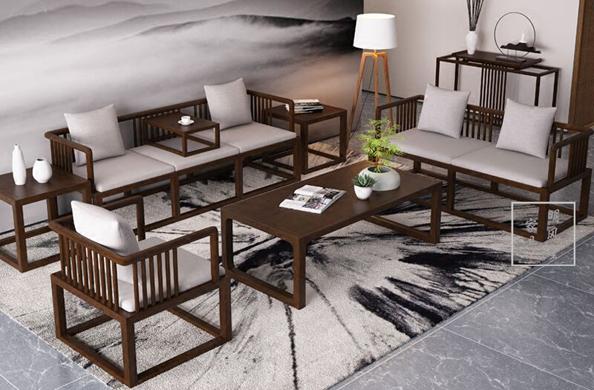 新中式复古式沙发