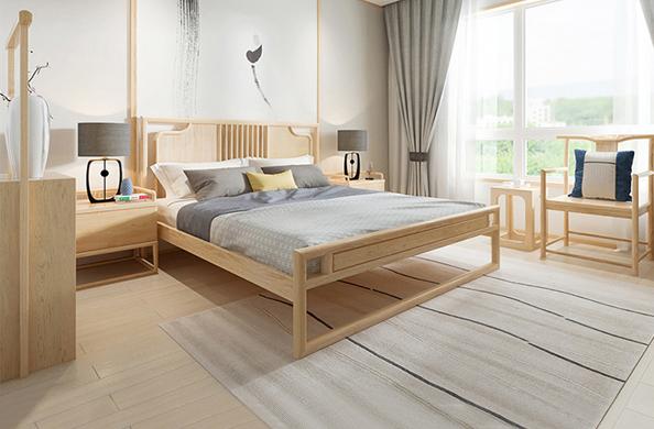 新中式双人床