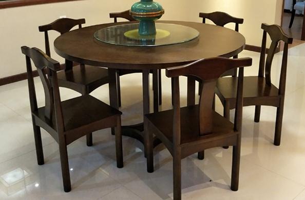 新中式实木餐桌椅