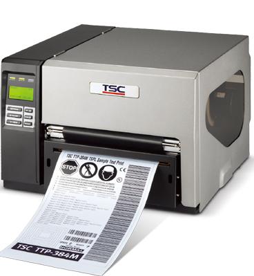 TSC TTP-384M 工业宽幅条码打印机 可打印A4标签纸电信电力警示标签