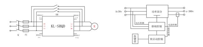 电机交流软启动接线图