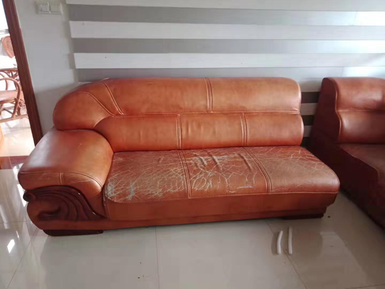 皮沙发上色翻新
