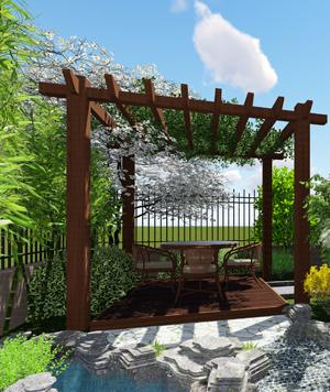 园林景观设计效果图