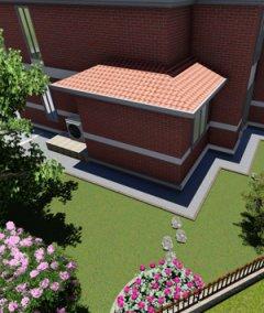 480平典雅型中式别墅景观设计