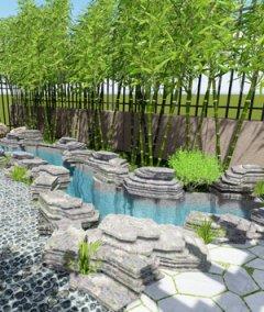 105㎡中式别墅景观设计