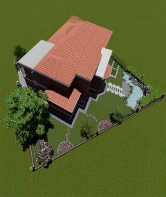 480平典雅型中式别墅庭院景观设计效果图