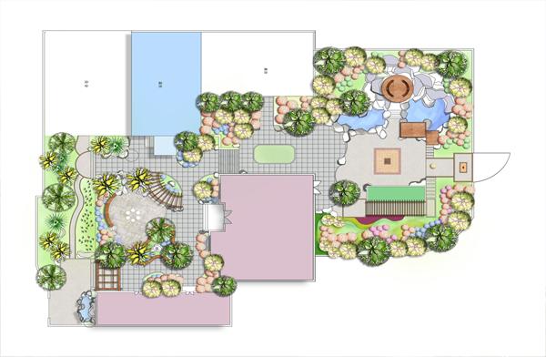 2200平私家花园景观设计效果图