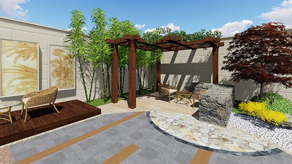 绿城百合景观设计效果图