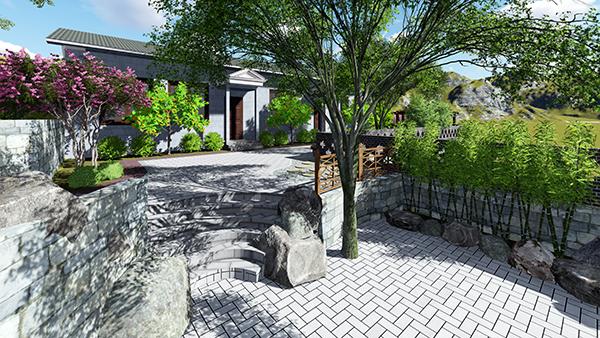 山顶别墅庭院景观设计效果