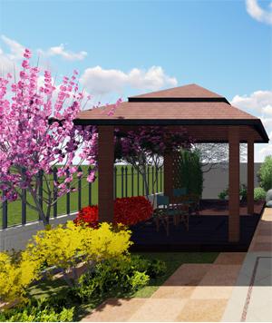 托斯卡纳风格庭院设计效果图