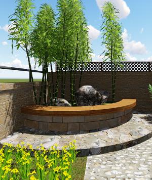 78㎡ 精致空中花园设计效果图
