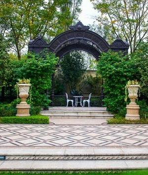 法式万博登录庭院景观
