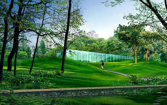 城市湿地公园园林万博官网manbetx效果图