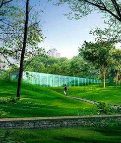城市湿地公园园林景观设计效果图