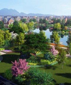 厂区景观设计效果图