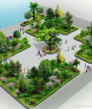 公园广场万博官网manbetx效果图