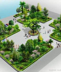 公园广场景观设计效果图