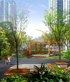 社区景观设计实体图