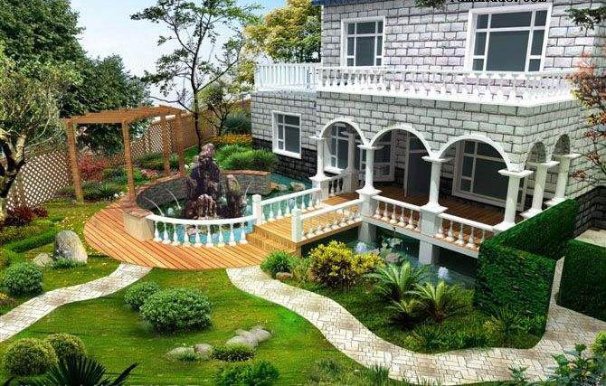 别墅庭院设计该如何规划呢?