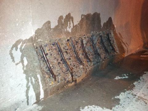 防撞墻、立柱的快速搶修修補使用上海環宇研發生產的修補砂漿:秀樸-SJK350