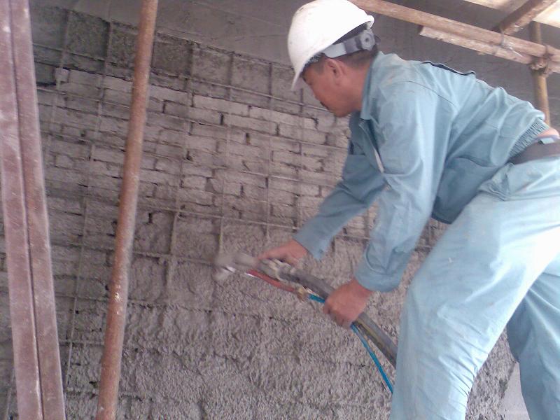 墻體修補加固使用上海環宇研發生產的修補砂漿(聚合物水泥砂漿):秀樸-SJ20