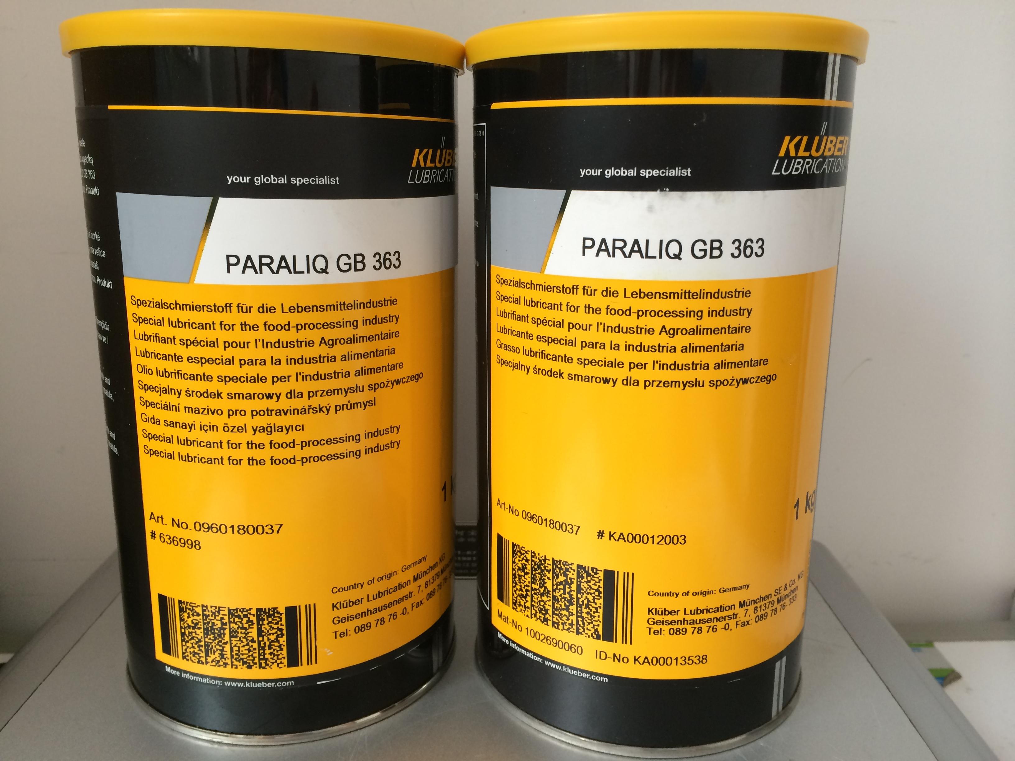 KLUBER PARALIQ GB-363合成润滑脂