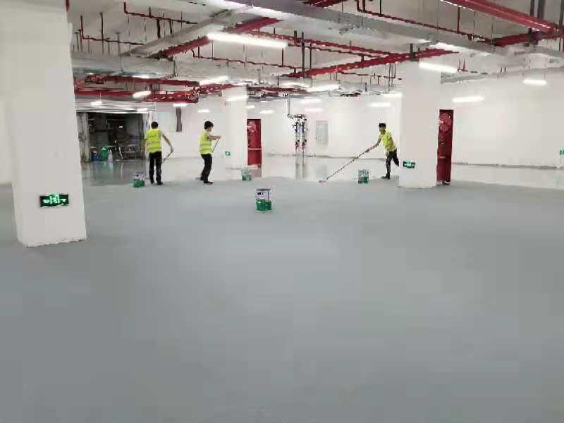 亚洲集团水性地坪漆施工