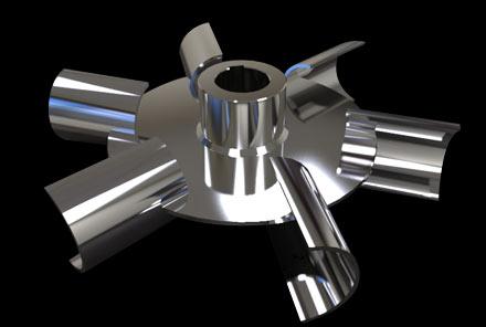抛物线及半管圆盘涡轮桨式