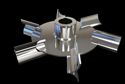箭叶圆盘涡轮桨式