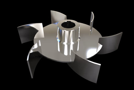 弯叶圆盘涡轮桨