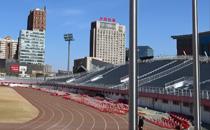 北京石景山体育场看台聚脲防水施工