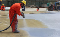 龙口万豪·伊顿地下车库顶板及侧壁聚脲防水施工