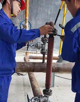 江西新干盐化工业城锅炉化学清洗