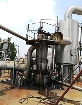 化工厂蒸发器清洗效果现场