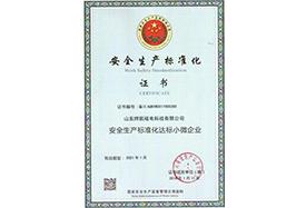 自动除铁器安全生产标准化